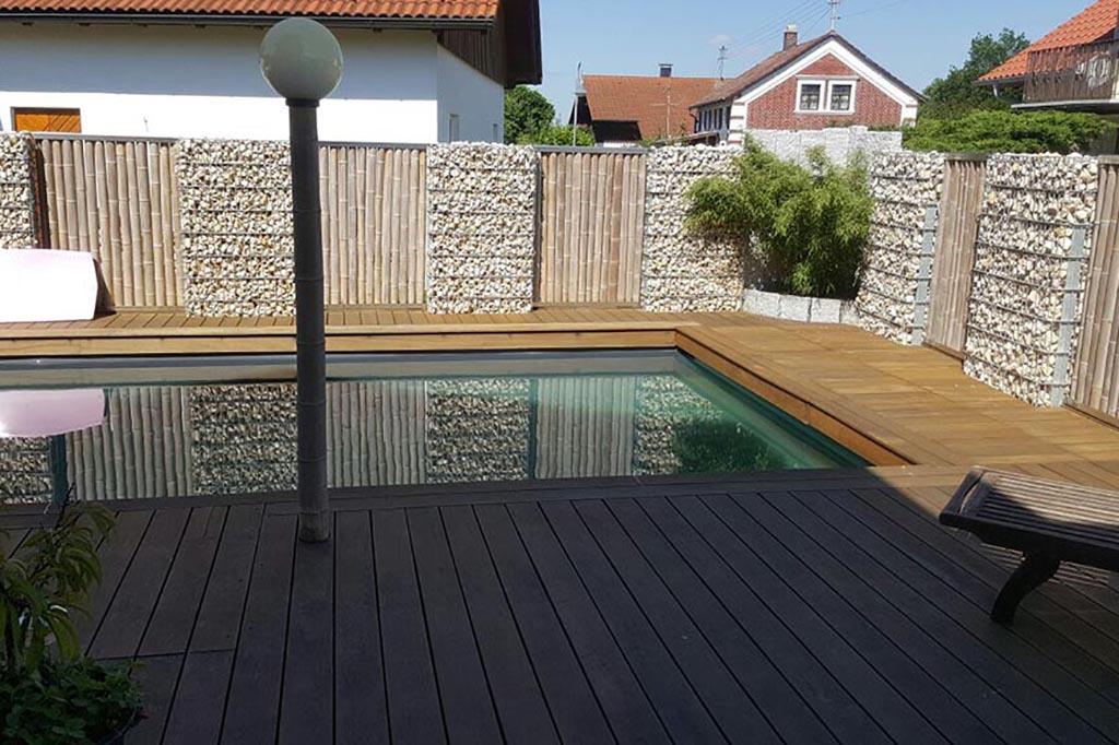 Pool mit gutem Sichtschutz für Privatsphäre