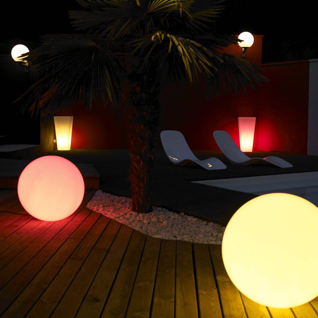 Pool Garten Beleuchtungkugeln