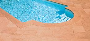 Pool Randstein tradition terrakotta